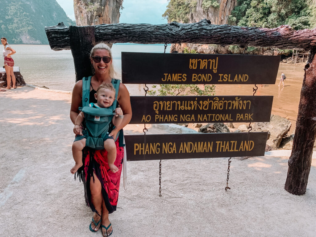 GEMMA AND GEORGE AT JAMES BOND ISLAND IN PHUKET THAILAND