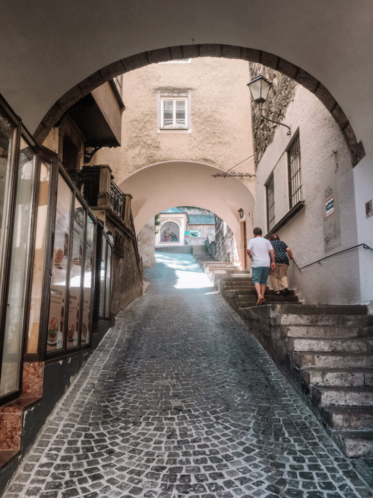 gemma and george in the old town of salzburg
