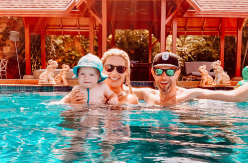 gemma and george family picture in thailand